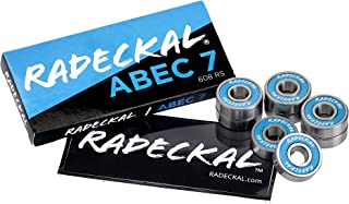 RADECKAL Blue ABEC 7 Skateboard Bearings, Skateboards, Longboards, Cruisers, Inline Skates, Roller Skates, Pre-Lubricated, High Precision Rating, Long Lasting