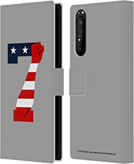 Head Case Designs Officially Licensed JVY Creations America Power 7 Leather Book Wallet Case Cover Compatible with Sony Xperia 1 II