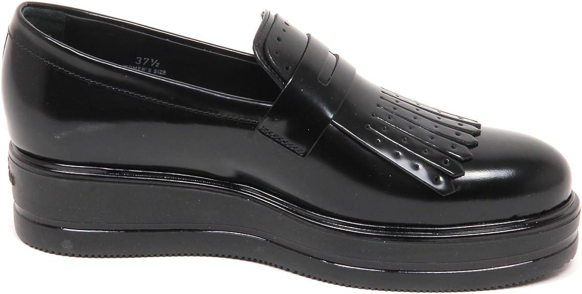 Hogan E4592 Mocassino Donna Nero H323 Scarpe Frangia Shoe Woman ...