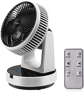 Ventilateur de Table, FOCHEA Ventilateur Silencieux 12 Vitesses Turbo Ventilateur à Circulation d'Air avec Télécommande, M...