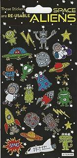 Paper Projects 01.70.04.008 kosmici błyszczące naklejki wielokrotnego użytku, 19,5 cm x 9,5 cm