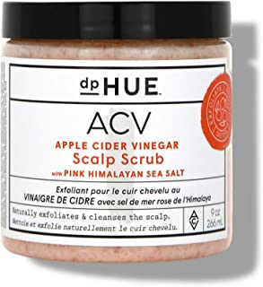 dpHUE Apple Cider Vinegar Scalp Scrub with Pink Himalayan Sea Salt, 9 oz - Natural Exfoliating Scrub & Dry Scalp Treatment...