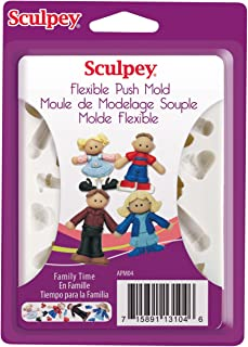 Sculpey Flexible Push Clay Mold, Family Time