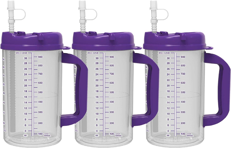 32 oz Double Wall Insulated Hospital Mug - Cold Drink Mug - Larg