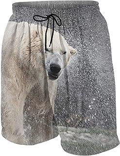 ボーイズ ハーフパンツ 海パン 可愛いパンダとシロクマ ショートパンツ サーフパンツ 五分丈 ボードショーツ 速乾 水陸両用 アウトドア 海水浴 普段着 街着 柔らかい 7-20歳が適当