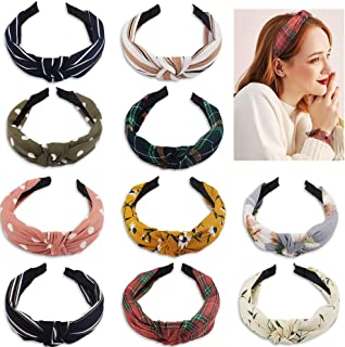 BAHABY 10 Pack Turban Headbands for Women Knotted Headbands for Women Top Knot Headband for Women Headbands Women Hair