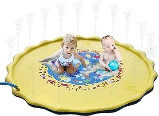 Hoovy Baby Water Splash Mat | 68'' Large Diameter Inflatable Outdoor Sprinkler Pad for The Beach, Pool, Garden, Deck, Backyard, Summer & More