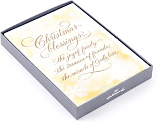 Hallmark Religious Boxed Christmas Cards, Christmas Blessings (16 Cards and 17 Envelopes)