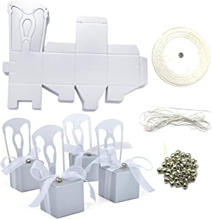 aspire 200 PCS Wedding Favor Boxes Place Card Holders Chair Party Favor Candy Box Small Gift Boxes