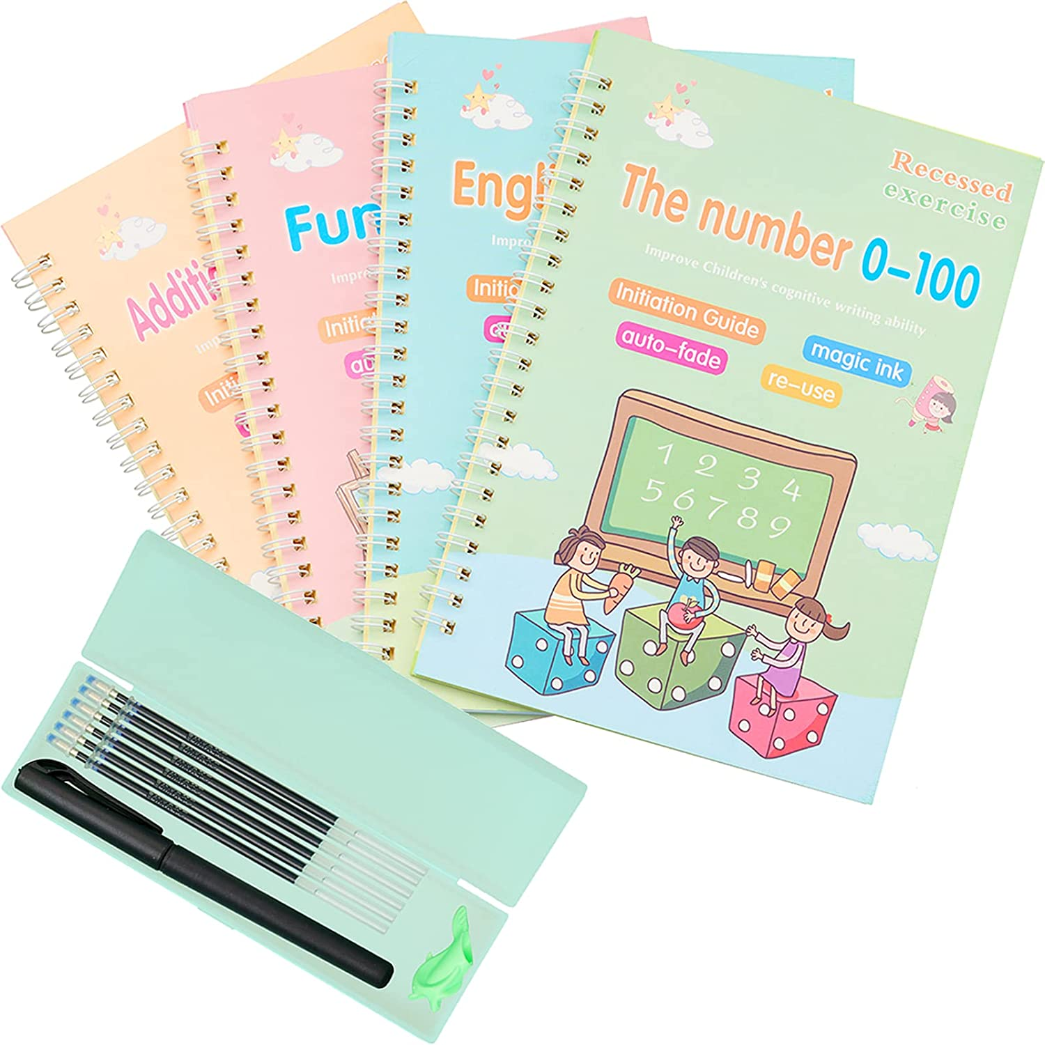 Magic Practice Copybook for Kids Workbook Ranking TOP8 Handwriting Pcs 4 OFFicial site
