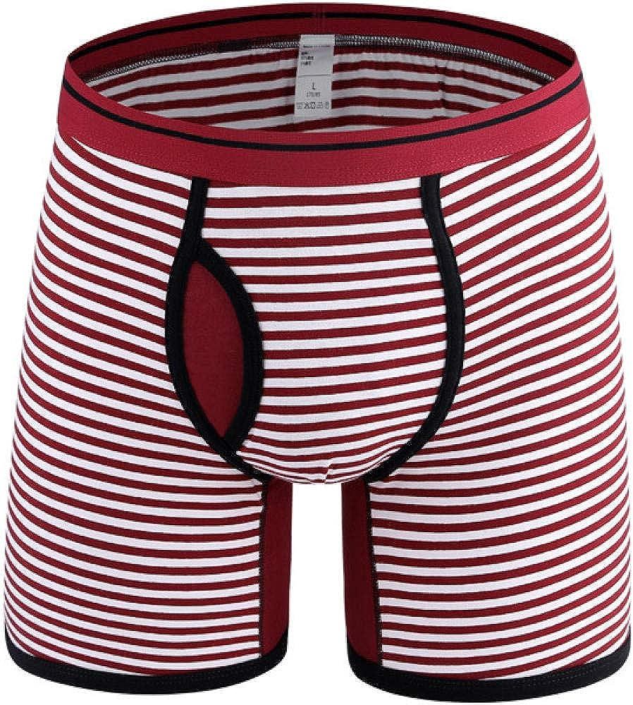 Mens Underwear Boxer Brief 4Pcs Lot famous Stripe Men Size Plus U Very popular