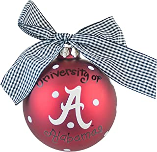 Coton Colors Alabama Logo Glass Ornament