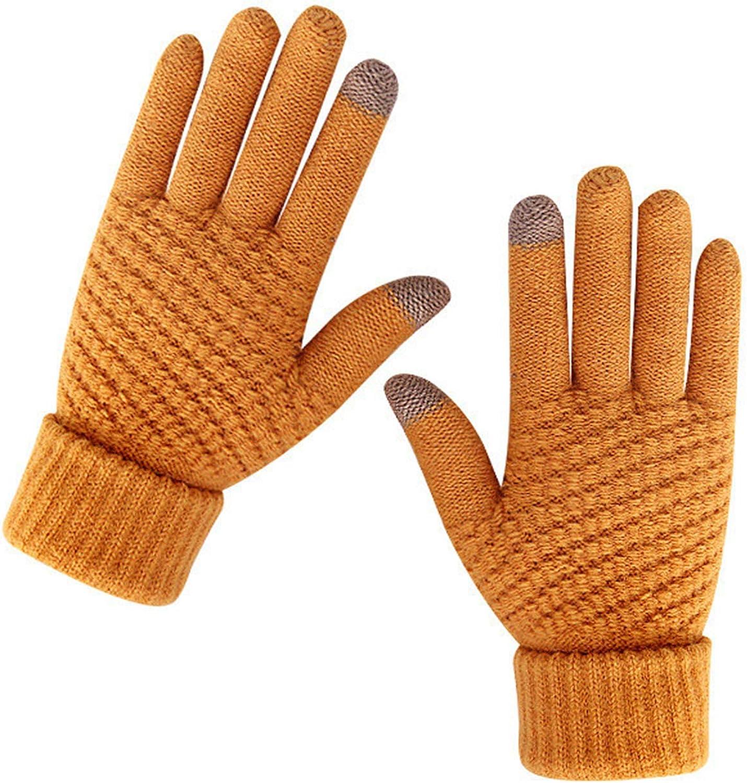 Eseres Winter Touchscreen Gloves Unisex Knitted Warm Gloves for Men Women Touch Screen Stretchy Mitten Haling Hands