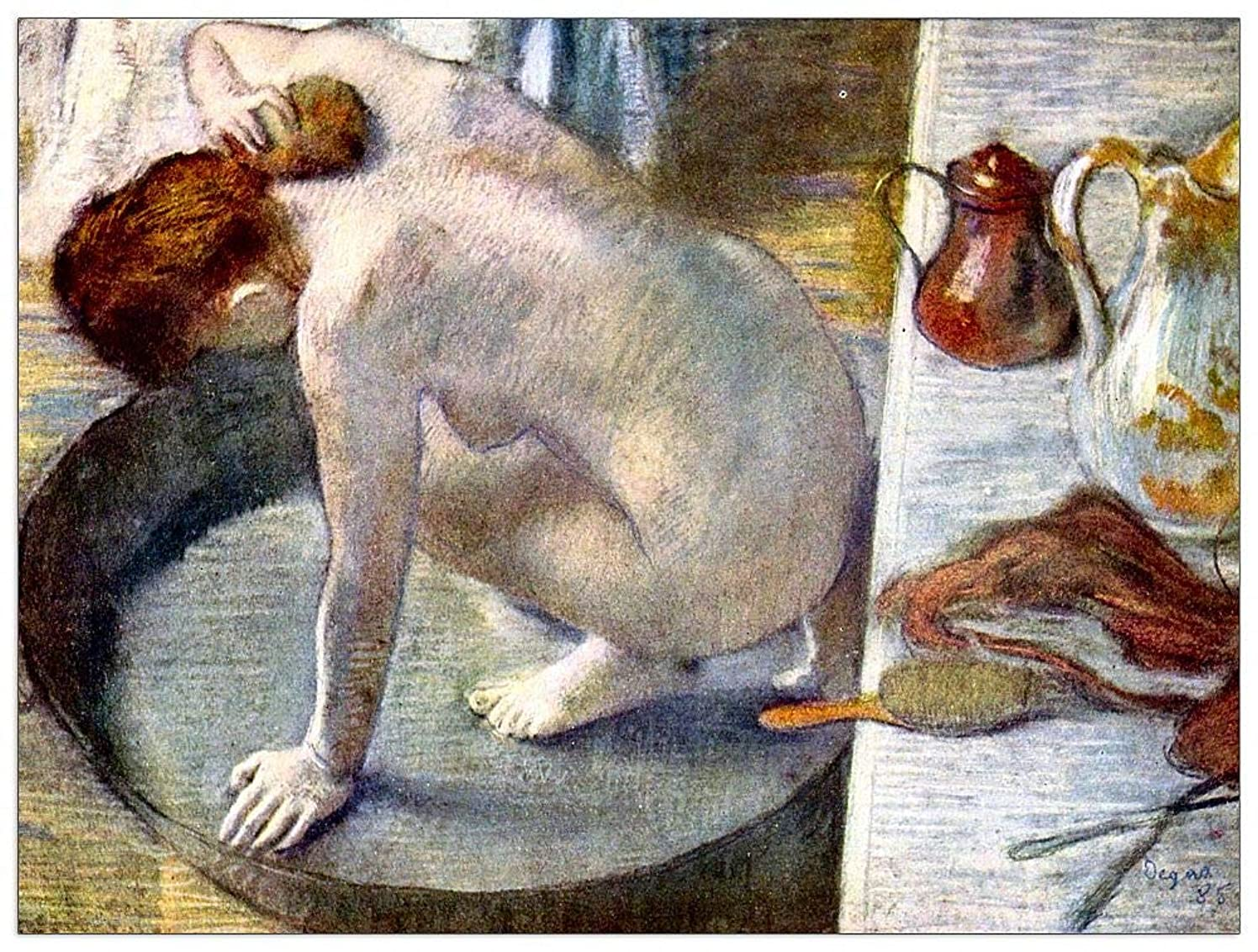 ArtPlaza TW93127 Degas Edgar - Woman Washing in The tub Decorative Panel 35.5x27.5 Inch Multicolored