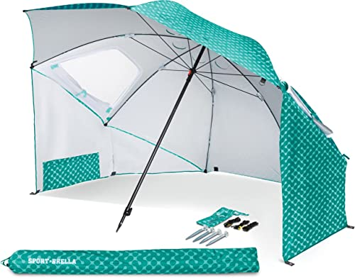 Sport-Brella Vented SPF 50+ Sun and Rain Canopy Umbrella for Beach and Sports Events (8-Foot) product image