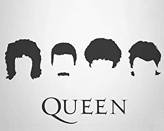 """Rock Bands- Silhouette Poster Prints Set (5) 10 x 8"""" Wall Prints-Ready To Frame. AC DC-Beatles-Queen-Nirvana-Scorpions. Ho..."""