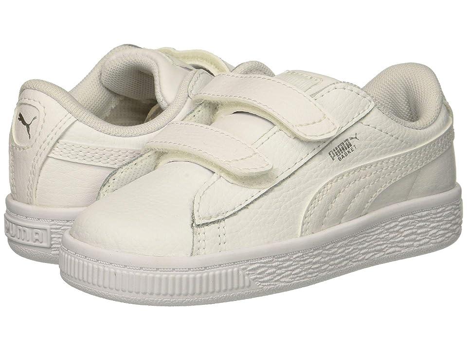 Puma Kids Basket Classic LFS V Inf (Toddler) (Puma White/Puma White) Kids Shoes