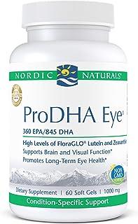 Nordic Naturals ProDHA Eye, Lemon - 60 Soft Gels - 1460 mg Omega-3 + FloraGLO Lutein & Zeaxanthin - Long-Term Eye Health, ...