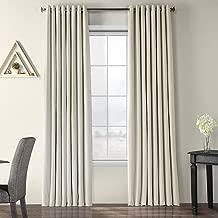 VPCH-VET1219-108-GR Extra Wide Grommet Blackout Velvet Curtain, Off White, 100 x 108