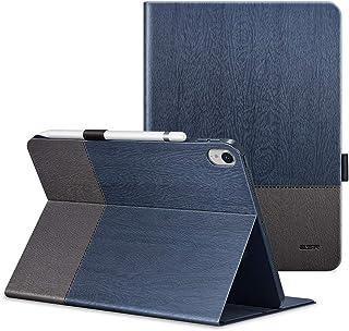 ESR iPad Pro 11 ケース 2018年秋モデルにピッタリマッチ[Apple Pencilのペアリングとワイヤレス充電に非対応] iPad Pro 11 カバー レザー 合皮 スリムフィット シンプル 手帳型 スエード柔らかな内側 スタンド機能 オートスリープ 傷つけ防止 二つ折 2018年秋発売のiPro 11インチ専用(灰紺色)