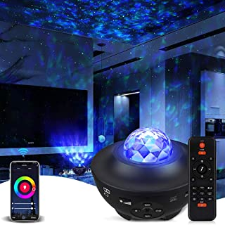 Galaxy Projector Star Projector Work with Alexa Google Home Galaxy Cove Projector with Bluetooth Music Speaker, Night Ligh...