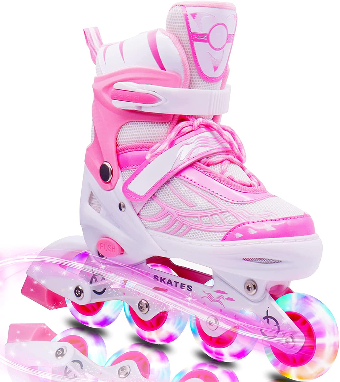 supreme ZLEIOUY Adjustable Inline Skates Omaha Mall for Kids Full Adults and L with