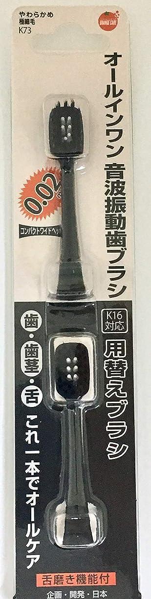強要キャラクター飼料オレンジケアプロダクツ オールインワン音波振動歯ブラシ K16 替え 2本