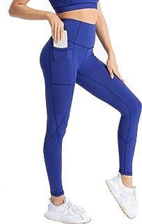 coastal rose Women's Yoga Pants 7/8 High Waist Workout Leggings Tummy Control Sports Tights Back Interior Pocket