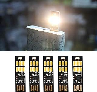 Yizhet 5 STK. USB Licht Schlüsselanhänger Super Hell 6 LED Touch Dimmer Tragbar für Laptop Tastatur, Weißlicht USB Beleuchtung(Kaltes Weiß) (Warm weiß)