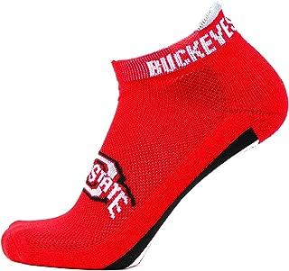 Donegal Bay NCAA Ohio State Buckeyes Unisex Ohio State Buckeyes Red Helmet Stripe Footie SocksOhio State Buckeyes Red Helmet Stripe Footie Socks, Red, One Size