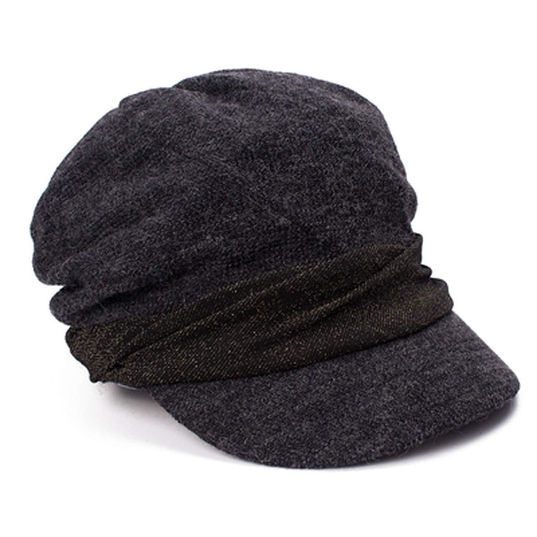 Unisex Hats Women Vintage Twill Cotton Newsboy Caps Vintage Unadjustable Hat Gorras Mujer,Black,United States