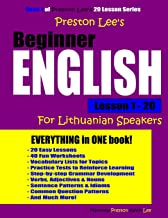 Preston Lee's Beginner English Lesson 1 - 20 For Lithuanian Speakers