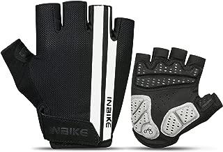 INBIKE Cycling Gloves, Bike Gloves Mountain Road 5MM Pads Half Finger Reflective for Men