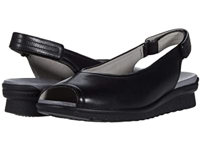 Aravon Josie Slingback (Black Smooth) Women