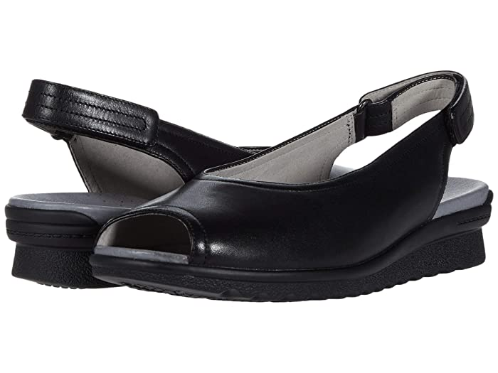 Aravon  Josie Slingback (Black Smooth) Womens Sandals
