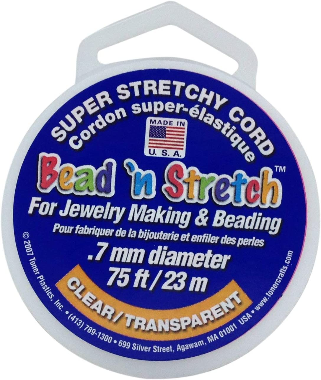 Clear Bead N Stretch 5.5 x 3 x 1.75 inches