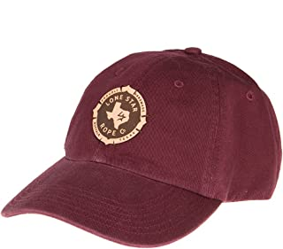 Lone Star Rope Company Mens Cap with Circle Logo OS Maroon