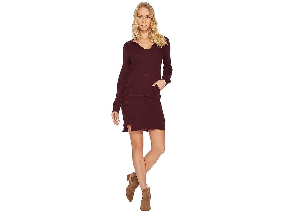 Lanston Hoodie Mini Dress (Maroon) Women
