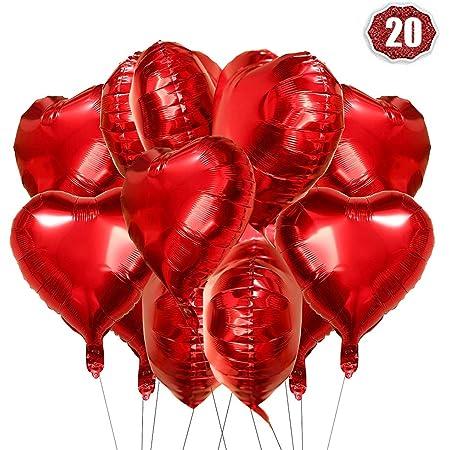 Stern Ø 45cm Helium Luftballon Herzballon Star Folienballons Folienballon Herz