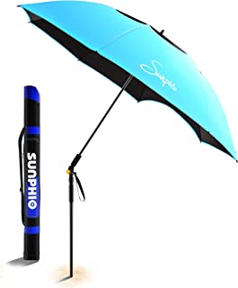 nautica 7 foot beach umbrella blue