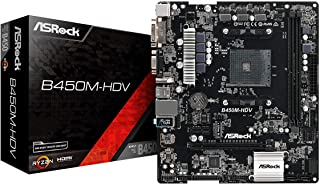 Asrock B450M-HDV AMD B450 Socket AM4 Micro ATX - Placa Base (DDR4-SDRAM, DIMM, 2400,2667 MHz, Dual, 32 GB, AMD)