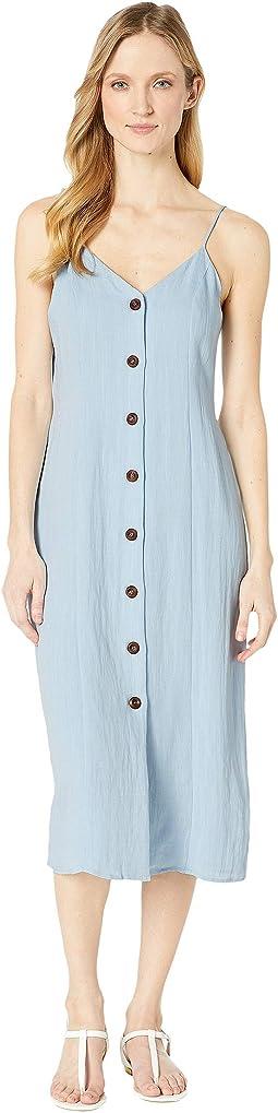 Bex Spaghetti Strap Button Up Dress