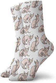 Jhonangel, Niños Niñas Locos Divertidos Sin Pelo Gatos Desnudos Gatos Sphynx Calcetines Patrón Calcetines Lindos de Novedad