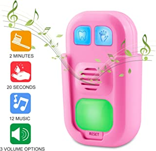 BIGMONAT Hand Washing Timer for Kids, Musical Teeth Brushing Timer for Boy and Girl, Stick on Bathroom Timer for Children Training Coach, AAA Battery Operated, 12 Songs, Sound Volume Adjustable