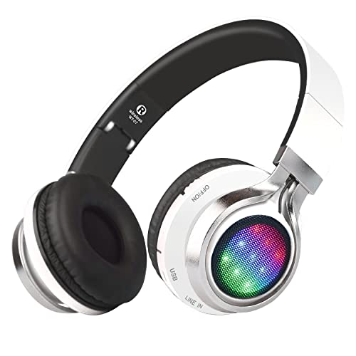 e808f7a0b09 Riwbox WT-07 Folding Wireless Bluetooth Stereo Headphones Adjustable  Headsets with 3 LED lights (