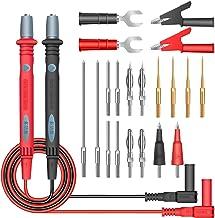 Conjunto de cabos de teste do multímetro 22 em 1 Sondas de teste isoladas de silicone profissionais 1000V com clipes de ja...