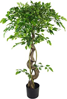 Leaf 120cm Twisted Trunk Artificial Japanese Fruticosa Style Ficus Tree