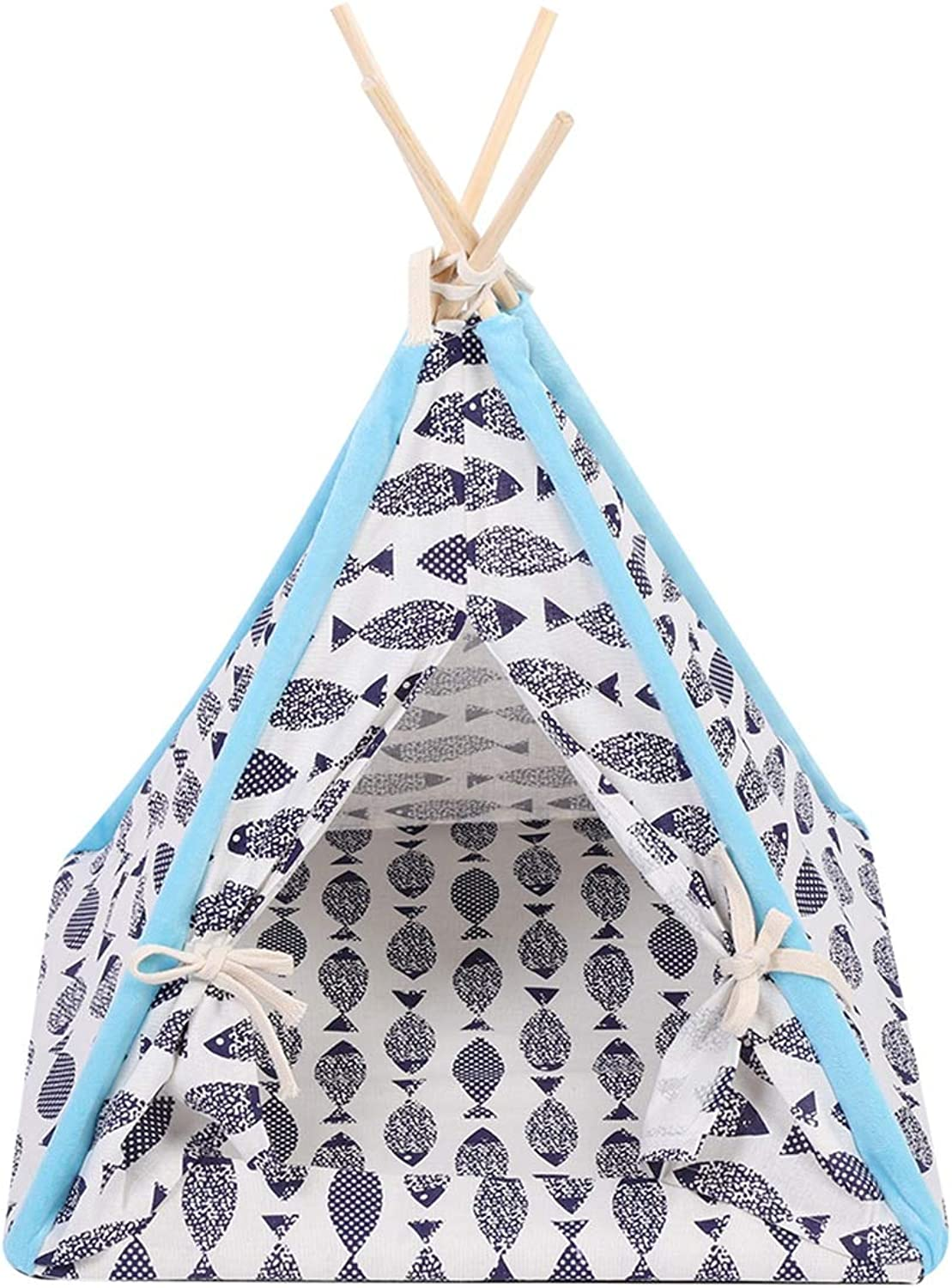 CARBE kennelFoldable Linen Pet Dog House Kennels Washable Tent Puppy Indoor Outdoor Portable Teepee Mat Dog Supplies Gifts L A
