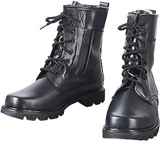 Heren Stalen Teen Lederen Gevecht Tactische Laarzen Zwart Waterdicht Hoge Top Ultralight Military Hunting Army Work Boots ...