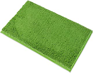MAYSHINE 20x32 Inches Non-Slip Bathroom Rug Shag Shower Mat Machine-Washable Bath Mats with Water Absorbent Soft Microfibers of - Green